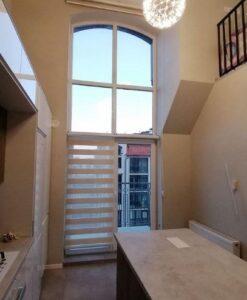 Рулонные шторы Clic Box Duo частичное закрывание окна