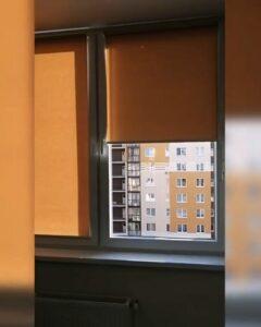 рулонные шторы оранжевые фото 2