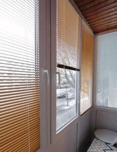Алюминиевые жалюзи Integra g-form на балконе