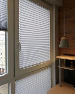 белые шторы плиссе фото