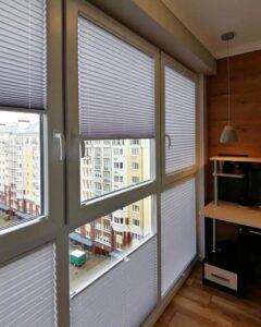 белые шторы плиссе фото 3
