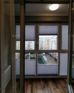белые шторы плиссе фото 4