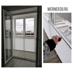 белые шторы плиссе для балкона