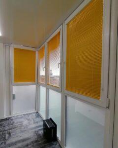 желтые алюминиевые жалюзи для балкона и кухни 3