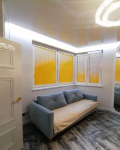 желтые алюминиевые жалюзи для балкона и кухни 2